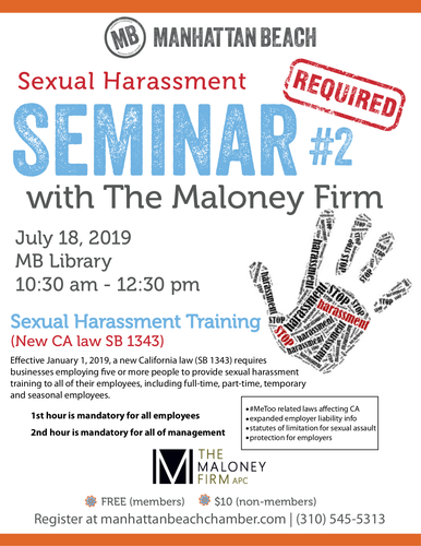Sexual Harassment Seminar with The Maloney Firm #2 @ Manhattan Beach Library