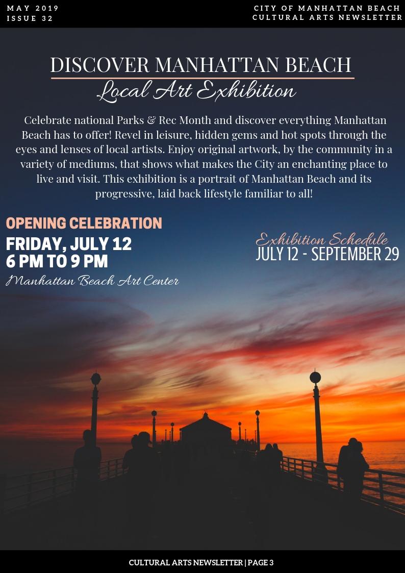 Discover Manhattan Beach Opening Celebration @ Manhattan Beach Art Center