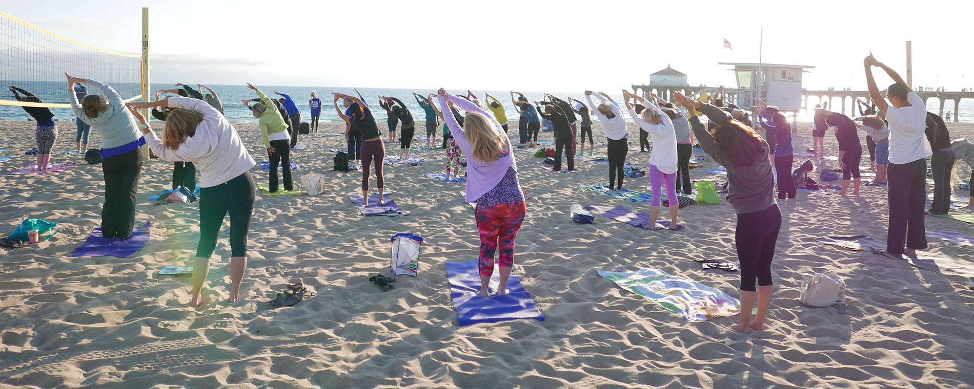 FREE Yoga at the Pier Every Monday in July! @ Manhattan Beach Pier